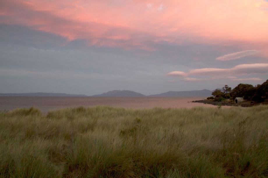 Dusk at Swansea, Tasmania.